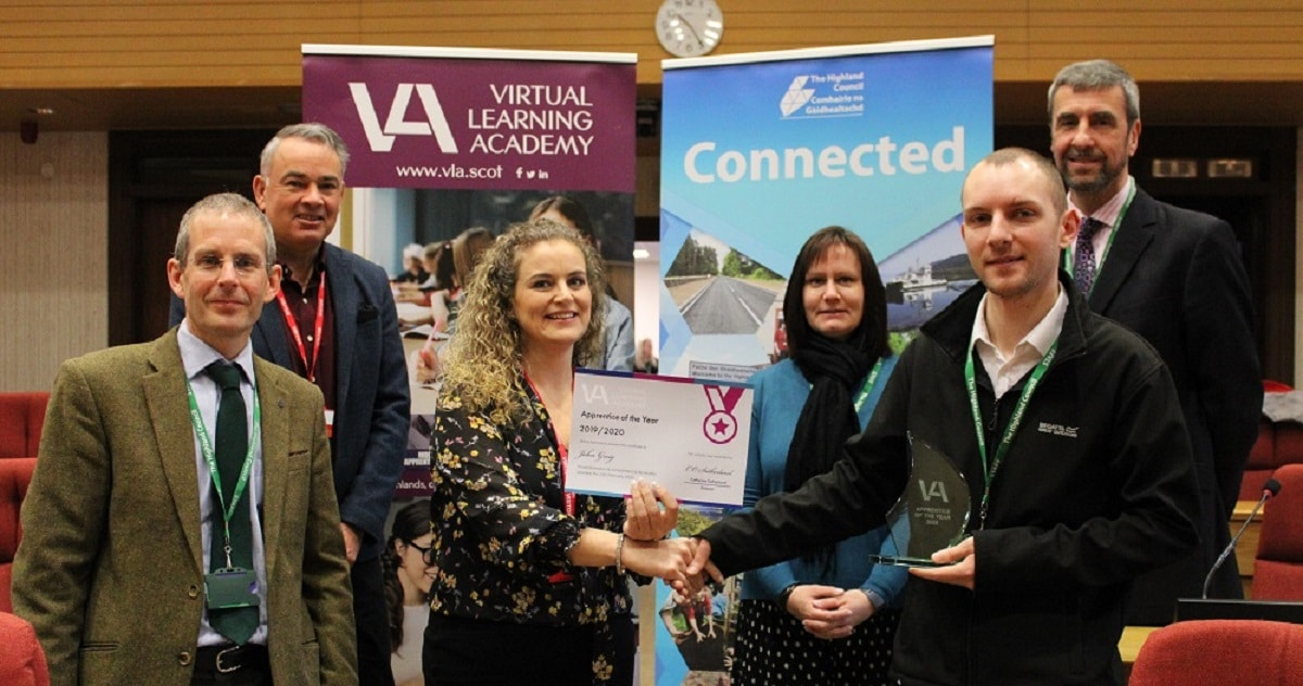 VLA Apprentice of the Year 2020 John Greig - Highland Council