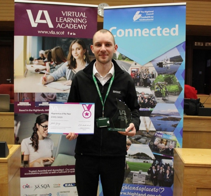 VLA Apprentice of the Year 2020 John Greig